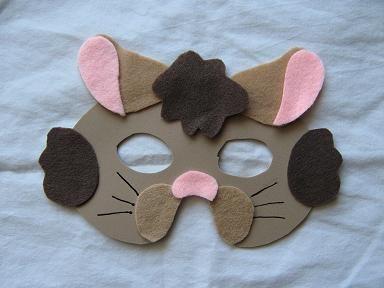 hamster mask from felt for school costume