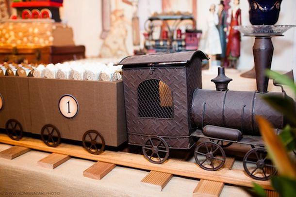 Festa estação de trem vintage, festa meninos e meninas, cute party, train party