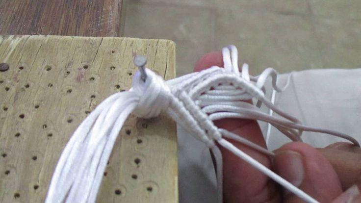 como tejer sandalia macrame cerrada  4 de 12