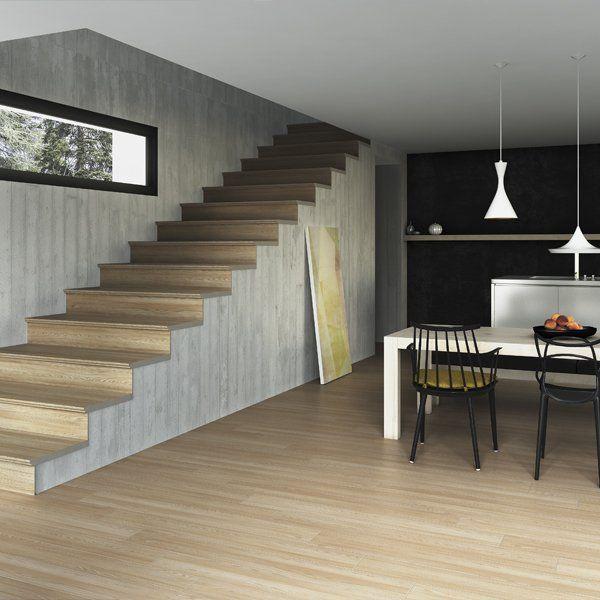 Mejores 11 im genes de wood grain tiles spain cer mica - Peldanos escalera imitacion madera ...