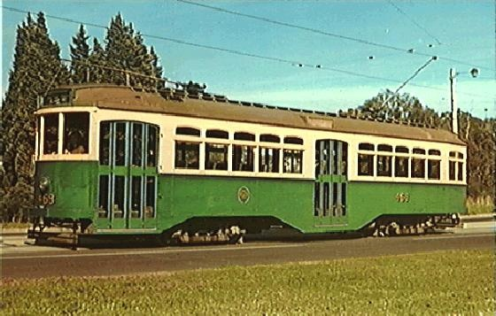 Souvenir photograph of Class Y tram (one only built in 1927). Built as a tourist tram - withdrawn from service 1965. Photo taken in 1978.