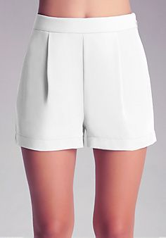 Pleat Front Shorts