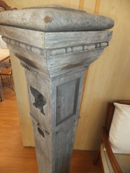 Unique Balustrade Pillar in solid Teak with carved detail