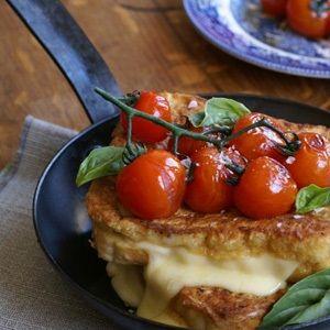Fried caprese sandwich