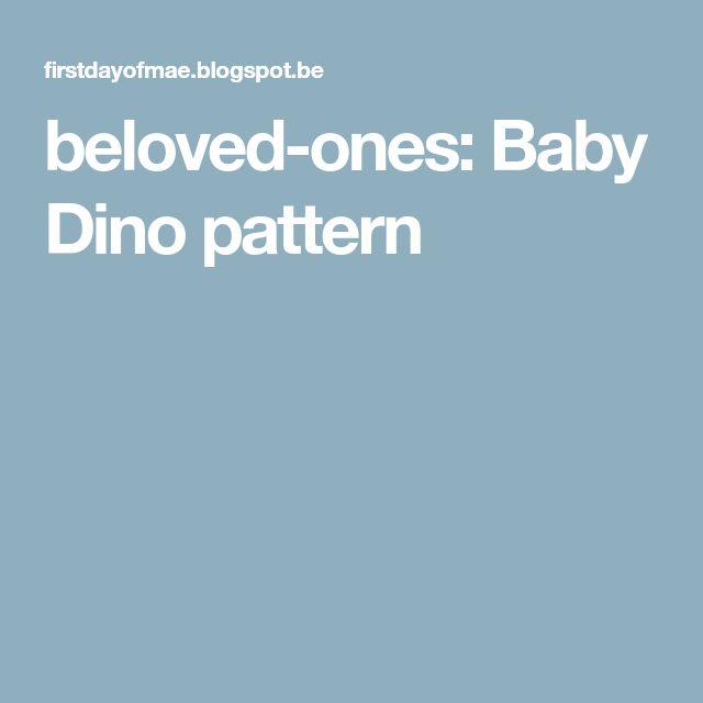 beloved-ones: Baby Dino pattern