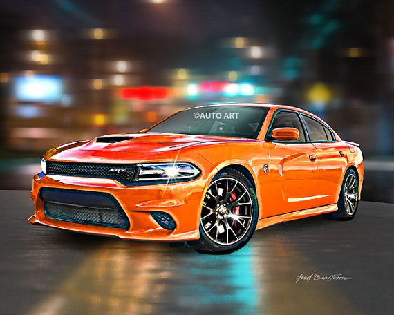93 best auto art images on pinterest art posters muscle cars auto art art dodge charger srt hellcat hemi by autoartprints sciox Image collections