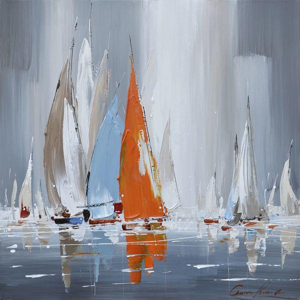 Veronneau.com - Tableau peint � la main voilier 31,5x31,5'', 88772, 114.89$