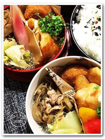 ✻鶏むねマヨ照り焼き✻カボチャのコロッケ✻肉ゴボウ✻焼きパプリカのマリネ&ミョウガ甘酢漬け✻キャベツとツナの和え物