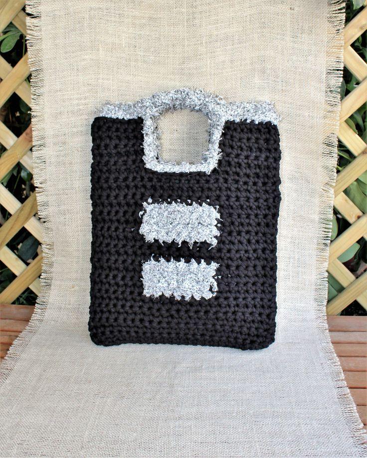 Excited to share the latest addition to my #etsy shop: Everyday black bag, Womens everyday bag, Black tablet case, Womens tablet bag, Crochet handbag, Black handmade bag, Cotton bag, ipad case http://etsy.me/2i8qxOF #bagsandpurses #black #gray #everydayblackbag #womenseverydaybag