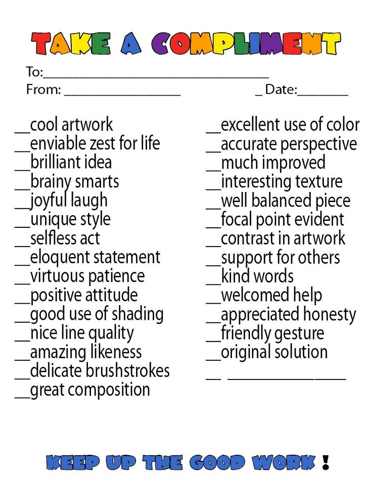 This would be cool to adjust at the beginning of the year for writing to focus on strategy not content. Also great ideas for giving others compliments.
