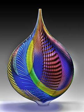 """Mandara"" by Lino Tagliapietra. 2005.  Beautiful and distinctive Murano glass piece by a master glass blower. In the collection of the Smithsonian American Art Museum and on display at The Renwick Gallery, Washington, DC. Purchase made possible by the American Art Forum."