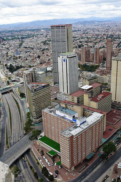 Vista aérea del Hotel Crowne Plaza Tequendama.