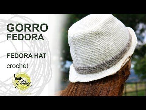 Tutorial Gorro Fedora Unisex Crochet o Ganchillo Hat (English Subtitles) - YouTube