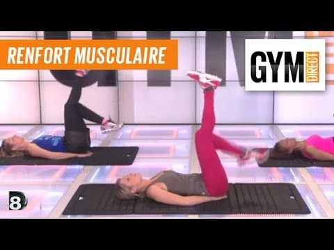Abdos Fessiers, Cuisse - Renforcement musculaire 93 - YouTube