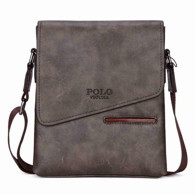 <b>POLO</b> Vintage Leather Messenger Bag For Business Man Shoulder ...