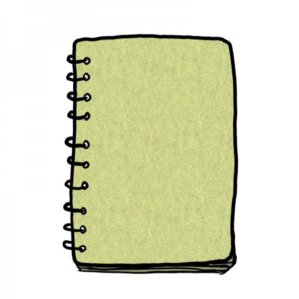 empty student notebook