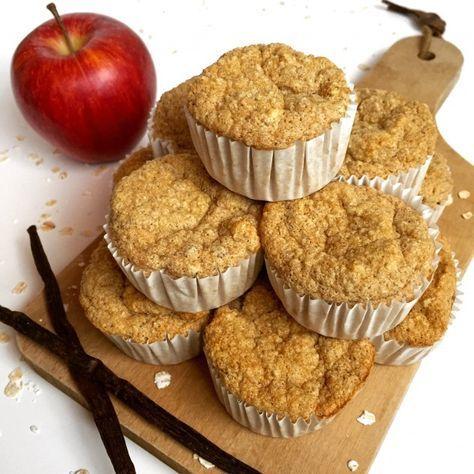 Muffins légers à la Vanille Pour12petits muffins : 80gr defarine d'avoine(ou flocons mixés ou son d'avoine) 150gr de compote de pommessans sucre ajouté 4cl de lait(amande, écrémé…) 2 blancs d'œuf 1 cas d'arôme vanilleliquide 2 à 3 cas d'édulcorant(stevia, sucralose…) 1 cac de levurechimique