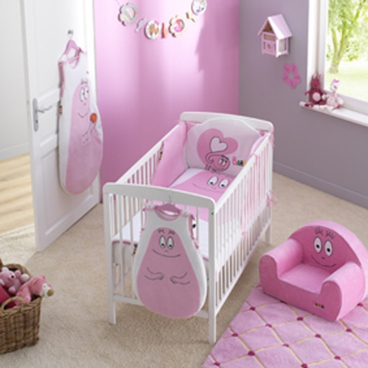 chambre barbapapa b b rose. Black Bedroom Furniture Sets. Home Design Ideas