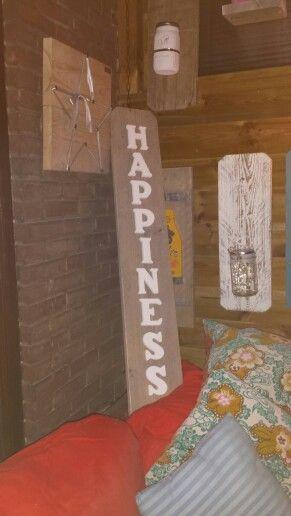 Decoratieve Staande plank met witte houten letters...een musthave!