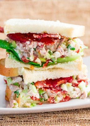 Easy Chicken Salad Sandwiches – fresh, delicious and a perfect lunch or snack. Made with homemade chicken salad.