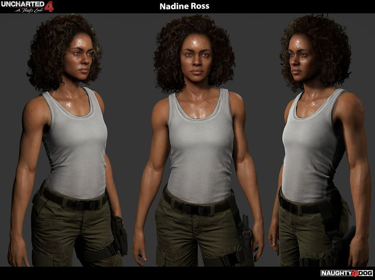 ArtStation - Uncharted 4 - Nadine Ross, Frank Tzeng