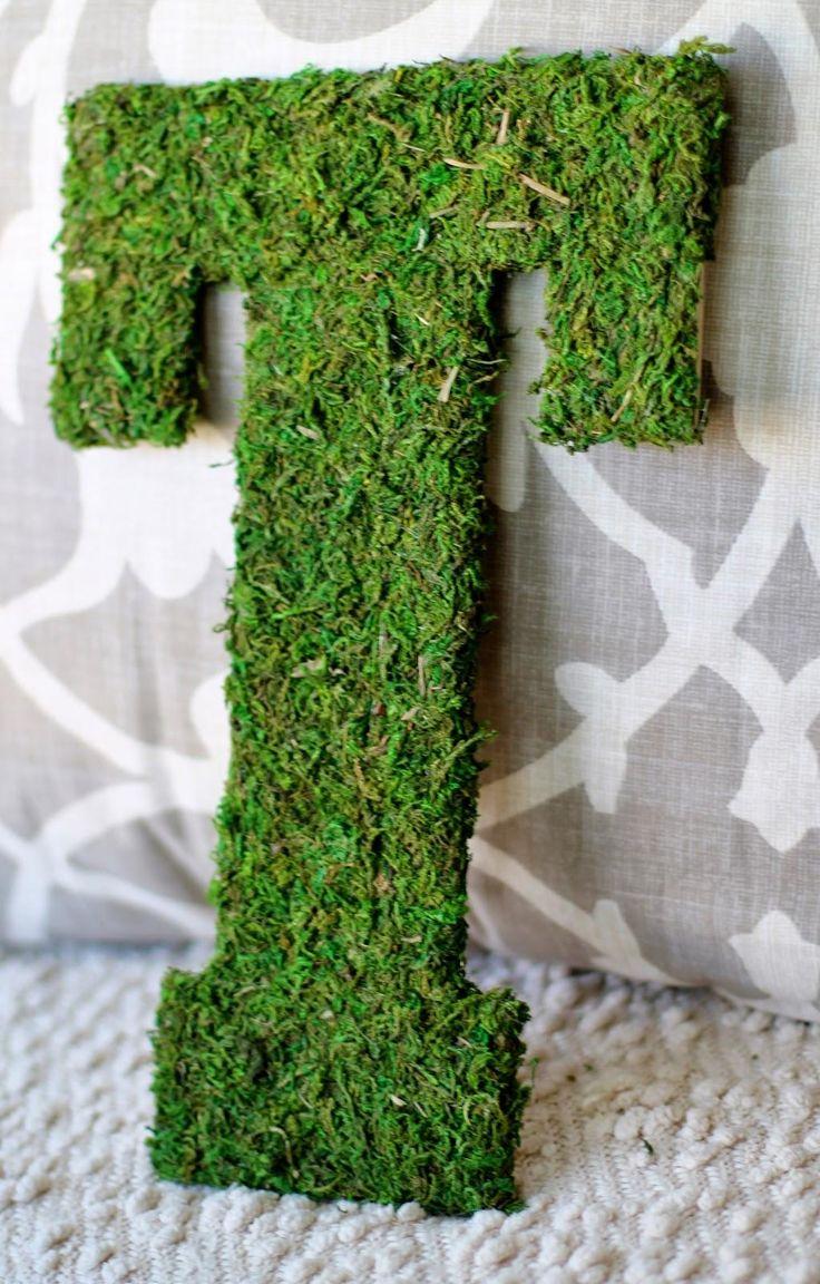 DIY Moss DIY Moss Letter 19
