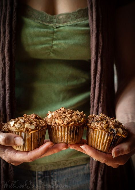 Blueberry Almond Streusel Muffins | Willow (of Will Cook For Friends ...