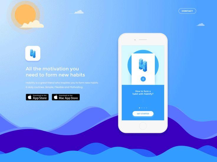 Habitify - Landing Page on UI Movement