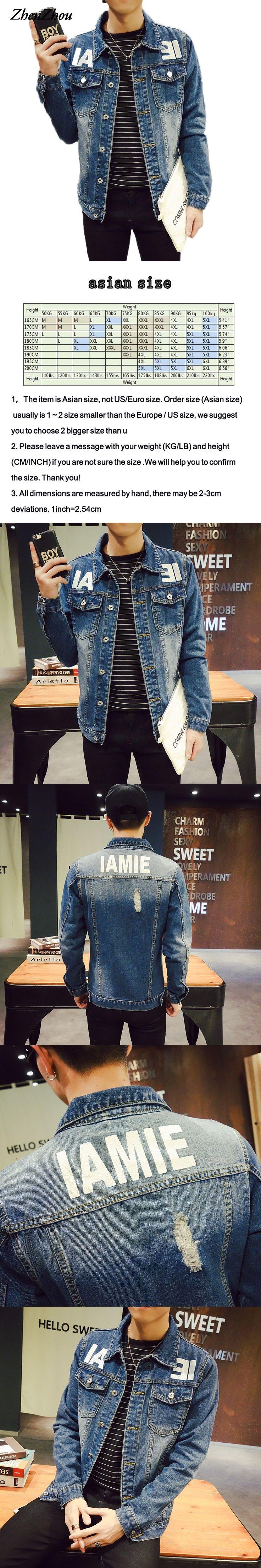 ZhenZhou S-5XL Male Denim Jackets Jaqueta Jeans Masculino JC30  Bomber Jacket Men Veste Homme Chaquetas Hombre 2016
