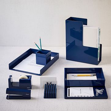 Color Pop Office Accessories - Navy