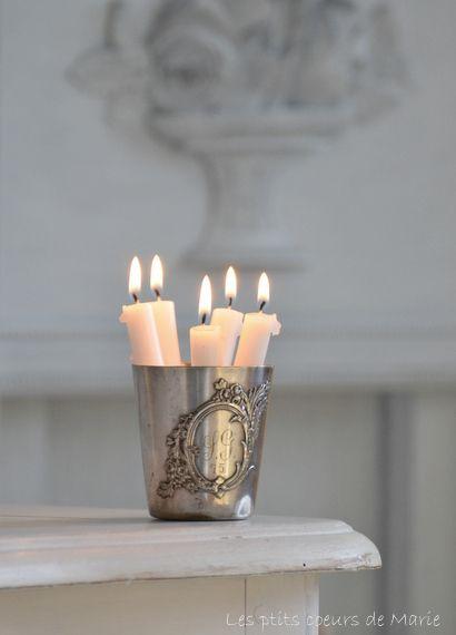 Kaarsen in n (zilveren) glas!