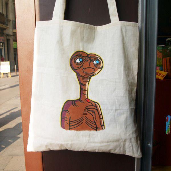 ET Tote Bag de Mr. Rancio! Ilustración por DaWanda.com