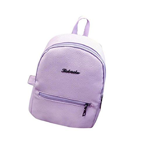 New Trending Backpacks: VIASA Women PU Leather School Bag Travel Backpack Shoulder Rucksack (Purple). VIASA Women PU Leather School Bag Travel Backpack Shoulder Rucksack (Purple)   Special Offer: $6.77      488 Reviews Package Content: 1PC Backpack(without retail package)Gender: Girls WomenMaterial: PU leatherSize: 20cm(L)*25(H)*12cm(W),This is a simple large capacity bagsA lovely bag full...