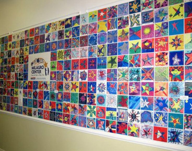 Milagro Center Donor Recognition Tile Wall - ceramic tiles painted by kids