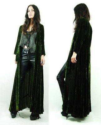 moss green velvet | Vtg 20s 30s Moss Green SILK VELVET Ultra Draped Goth DECO Gypsy JACKET ...