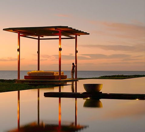 AMANYARA swimming pool at dusk. #amanyara #turks #caribbean #island #travel #secret #escapes amanyara.com
