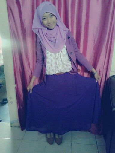 #me #smile #hijab #fashionhijab #purple #pinit #follow #indonesia