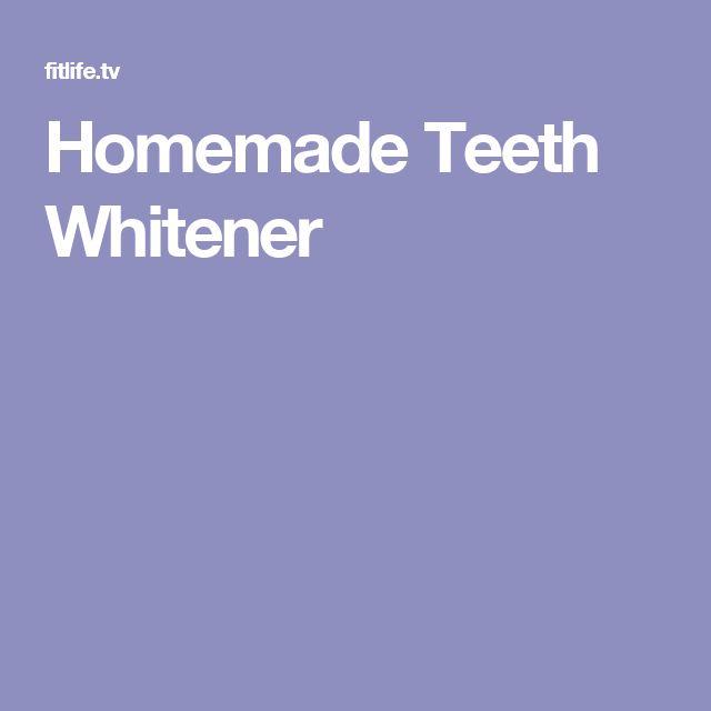 Homemade Teeth Whitener
