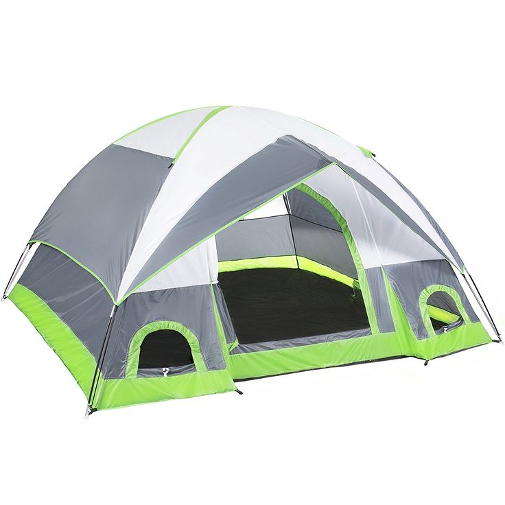 4 Person C&ing Tent Family Outdoor Sleeping Dome Water Resistant W/ Carry Bag 2 doggy doors and 1 large window (GrayWhite Green)  sc 1 st  Pinterest & 125 best Best Family Tents 2018 images on Pinterest | Tent camping ...