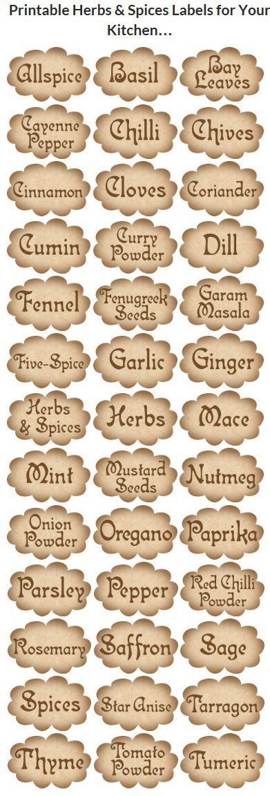 Free Spice Labels Vintage Style Printables Spice