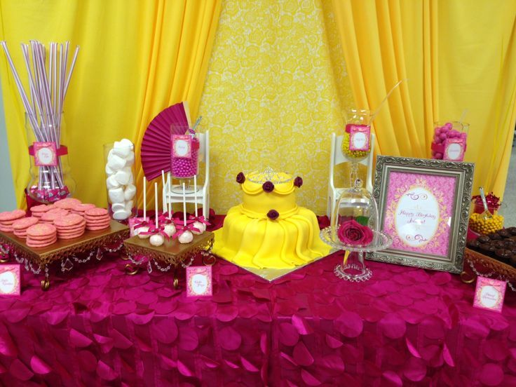 Belle Birthday Decorations 55 Best 5Th Birthday  Beauty And The Beast Images On Pinterest