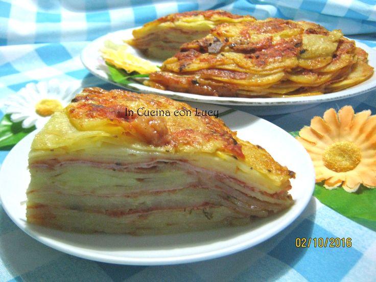 Lasagne+di+patate+con+prosciutto+e+emmenthal