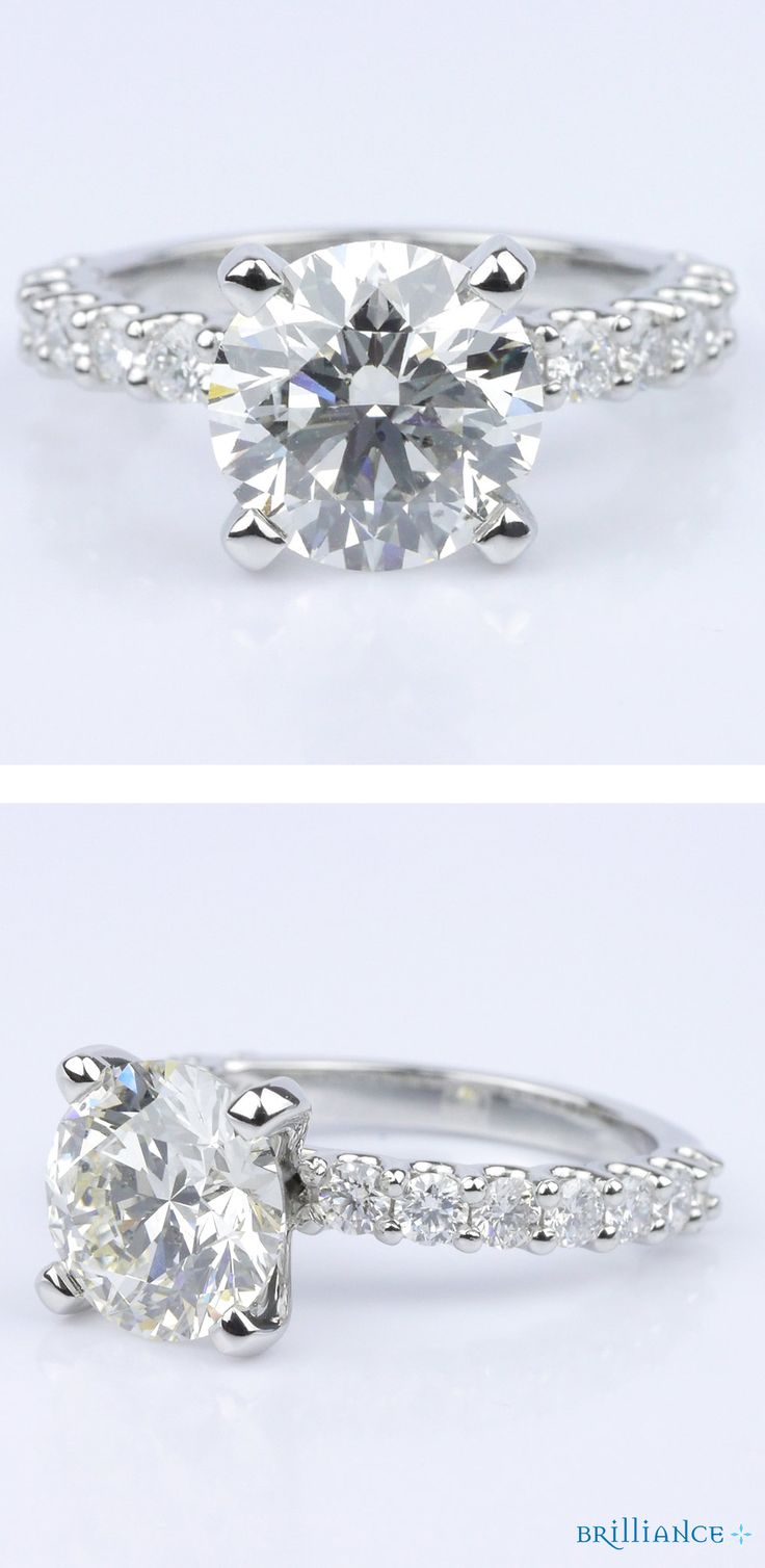 This Customized Uprong Round Diamond Engagement Ring Is On It's Way To A  Soon