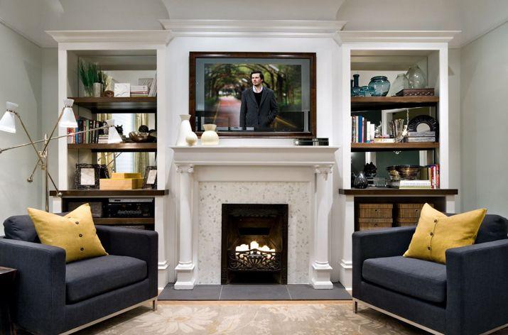Al estilo jovial y divertido de candice olson living - Candice olson fireplaces ...