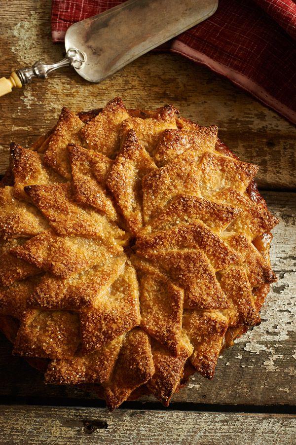 Rosemary-Brown Butter-Shingled Crust Apple Pie