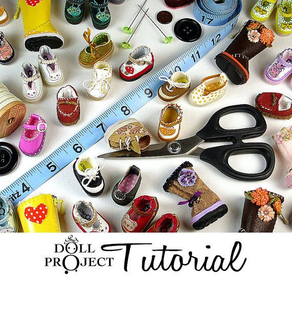 Tiny Doll Shoe PDF Tutorial Make 28mm Shoes for by DollProject, $65.00