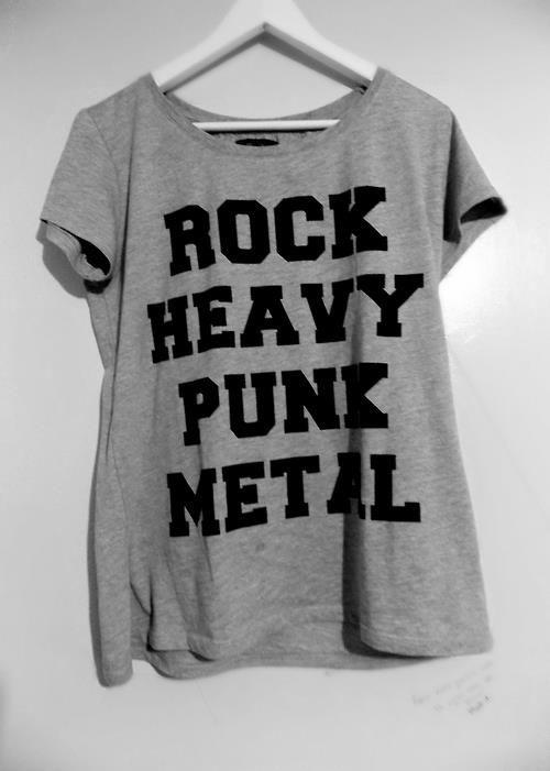 Rock Heavy Punk Metal T-shirt