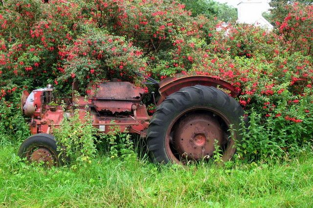 Abandoned tractor  near to Lisdargan and Gowlin, Kerry, Ireland