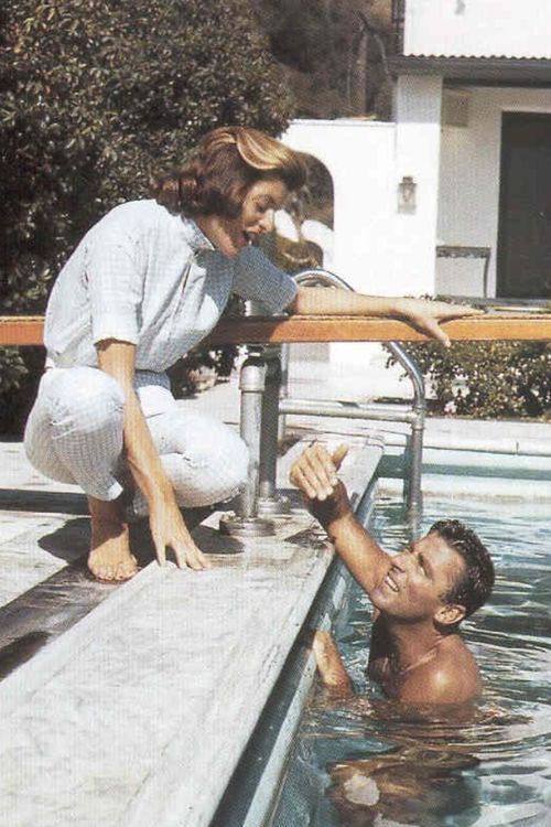 Patricia Kennedy & Peter Lawford (whom she later married)