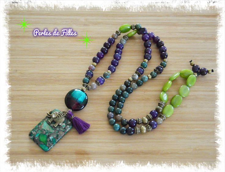 plus de 1000 id es propos de colliers fait main bijoux fantaisie perles de filles sur. Black Bedroom Furniture Sets. Home Design Ideas